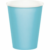 Touch of Color Pastel Blue 9 oz Hot & Cold Cups in quantities of 24 / pkg, 10 pkgs / case