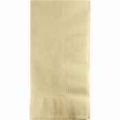 Touch of Color Ivory 2 Ply Dinner Napkins in quantities of 50 / pkg, 12 pkgs / case