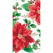 Elegant Poinsettia Guest Towels 192 ct