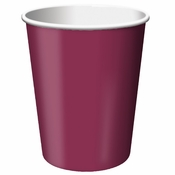 Touch of Color Burgundy 9 oz Hot & Cold Cups in quantities of 24 / pkg, 10 pkgs / case