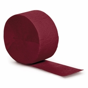 Touch of Color Burgundy Crepe Streamer in quantities of 1 / pkg, 12 pkgs / case