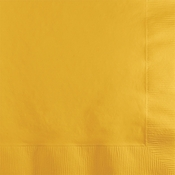 Touch of Color School Bus Yellow 2 ply Beverage Napkins in quantities of 50 / pkg, 12 pkgs / case
