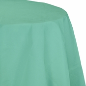 Fresh Mint Green Octy-Round Paper Tablecloths 12 ct