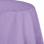 Touch of Color Luscious Lavender Octy-Round Paper Tablecloths in quantities of 1 / pkg, 12 pkgs / case