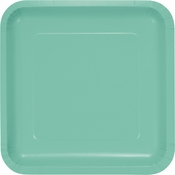 Fresh Mint Green Square Dinner Plates 180 ct