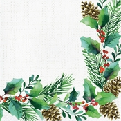 Golden Holly Luncheon Napkins 192 ct