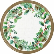 Golden Holly Dessert Plates 96 ct