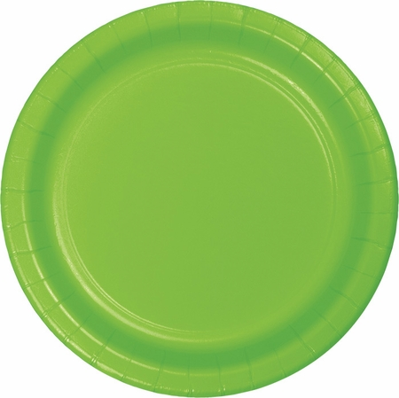 Touch of Color Fresh Lime Dessert Plates 240 ct in quantities of 24 / pkg, 10 pkgs / case