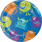 Fun Monsters Dessert Plates 96 ct