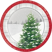 Winter Tree Dessert Plates 96 ct