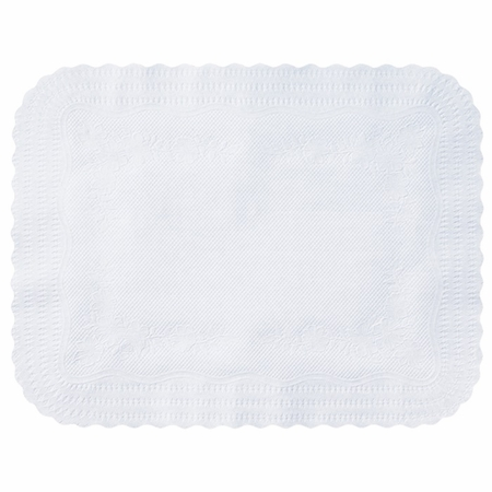 """White Medium Weight 14"""" x 18"""" Traymat sold in quantities of 1000 per case"""