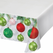 Ornaments Plastic Tablecloths 12 ct