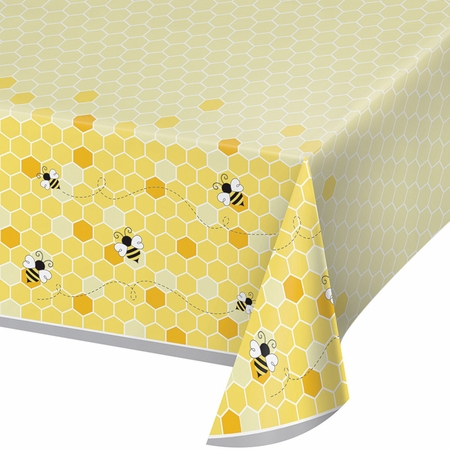 Bumblebee Baby Shower Plastic Tablecloths 6 ct