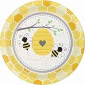 Bumblebee Baby Shower Dinner Plates 96 ct