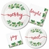 Seasons Greetings Plastic Tablecloths 12 ct