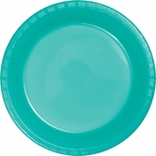 Teal Lagoon Plastic Banquet Plates 240 ct