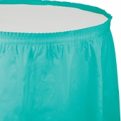 Teal Lagoon Plastic Tableskirt 6 ct