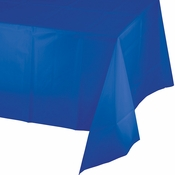 Cobalt Blue Plastic Tablecloth 12 ct