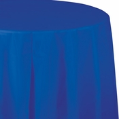 Cobalt Blue Round Plastic Tablecloths