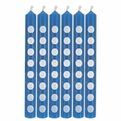 Cobalt Blue Polka Dot Candles 72 ct