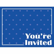 Cobalt Blue Invitations 48 ct