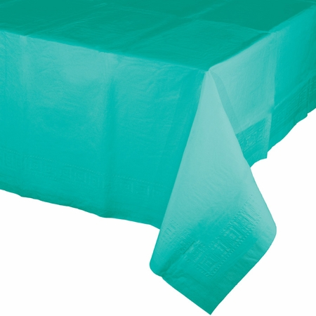 Teal Lagoon Paper Tablecloths 6 ct