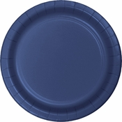 Touch of Color Navy Dessert Plates in quantities of 24 / pkg, 10 pkgs / case