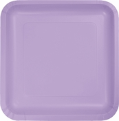 Touch of Color Luscious Lavender Square Dessert Plates in quantities of 18 / pkg, 10 pkgs / case