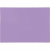 Touch of Color Luscious Lavender Paper Placemats in quantities of 50 / pkg, 12 pkgs / case