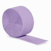 Touch of Color Luscious Lavender Crepe Streamer in quantities of 1 / pkg, 12 pkgs / case