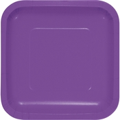 Amethyst Purple Square Dessert Plates 180 ct