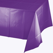 Amethyst Purple Plastic Tablecloth 24 ct