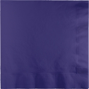Touch of Color Purple 2-Ply Luncheon Napkins in quantities of 50 / pkg, 12 pkgs / case