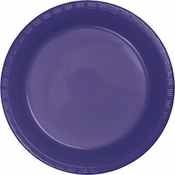 Touch of Color Purple Plastic Dinner Plates in quantities of 20 / pkg, 12 pkgs / case