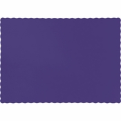 Touch of Color Purple Paper Placemats in quantities of 50 / pkg, 12 pkgs / case