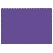 "Purple 9.5"" x 13.5"" Economy Paper Placemat, flat packed in quantities of 1000 / case"
