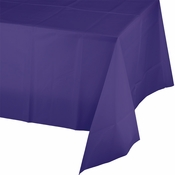 Touch of Color Purple Plastic Tablecloths in quantities of 1 / pkg, 12 pkgs / case