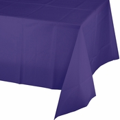 Purple Plastic Tablecloth 12 ct