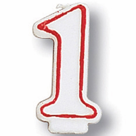 #1 Candles 6 ct