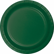 Touch of Color Hunter Green Dinner Plates in quantities of 24 / pkg, 10 pkgs / case
