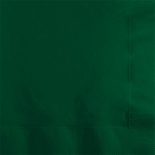 Touch of Color Hunter Green 2 ply Beverage Napkins in quantities of 50 / pkg, 12 pkg / case