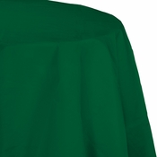 Touch of Color Hunter Green Octy-Round Paper Tablecloths in quantities of 1 / pkg, 12 pkgs / case