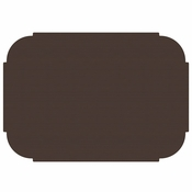 "Chocolate 9.75"" x 14"" Decorator Placemat in quantities of 1000 / case"