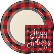 Buffalo Plaid Holiday Party Supplies