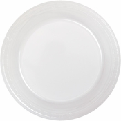 Touch of Color Clear Plastic Banquet Plates in quantities of 20 / pkg, 12 pkgs / case