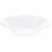 Touch of Color Clear 12 oz Plastic Bowls in quantities of 20 / pkg, 12 pkgs / case
