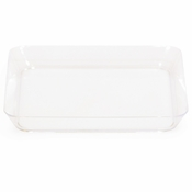 Translucent BPA free plastic Clear TrendWare SQ Appetizer Plate | 8 / pkg, 6 pkgs / case | Bulk is sold in quantities of 8 / pkg, 6 pkgs / case