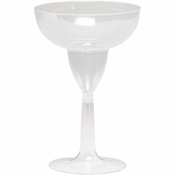Clear Margarita Glass sold in quantities of  4 / pkg, 6 pkgs / case