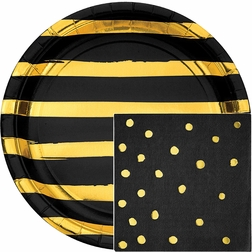Black and Gold Foil Party Supplies