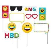 Show Your Emojions Photo Booth Props 60 ct